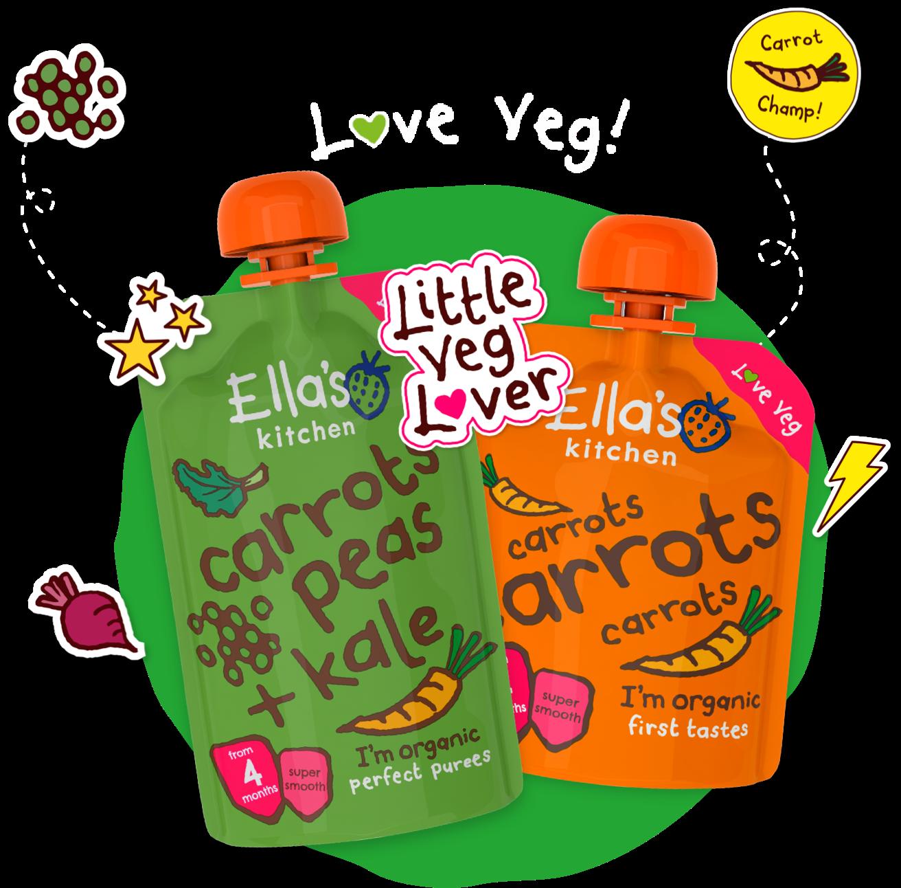 Hero image for 'Love veg' range