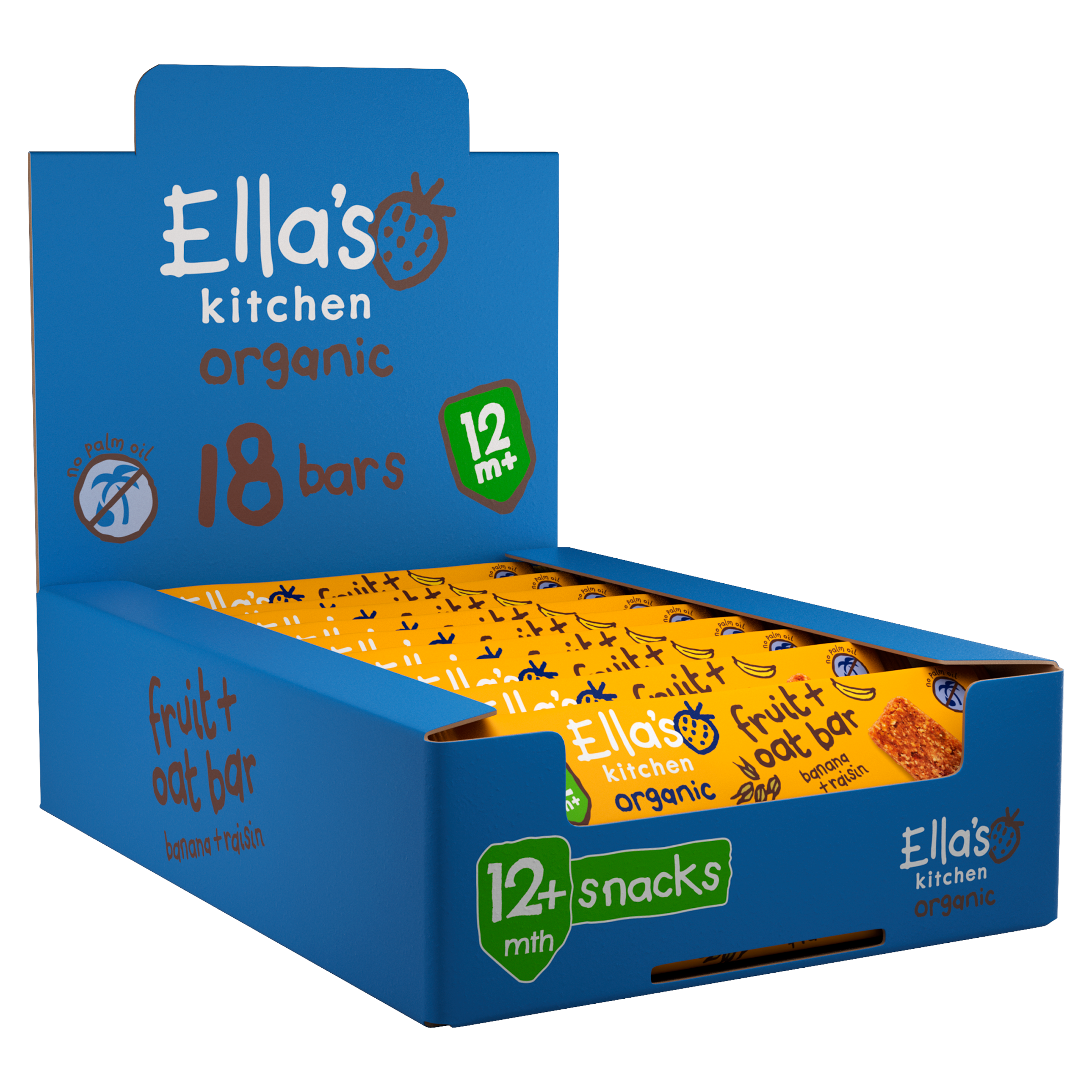 Ellas kitchen fruit oat product from 12 months front of pack bulk