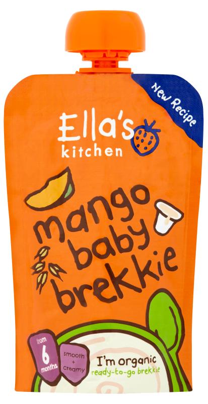 Ellas Kitchen mango baby brekkie pouch front of pack O