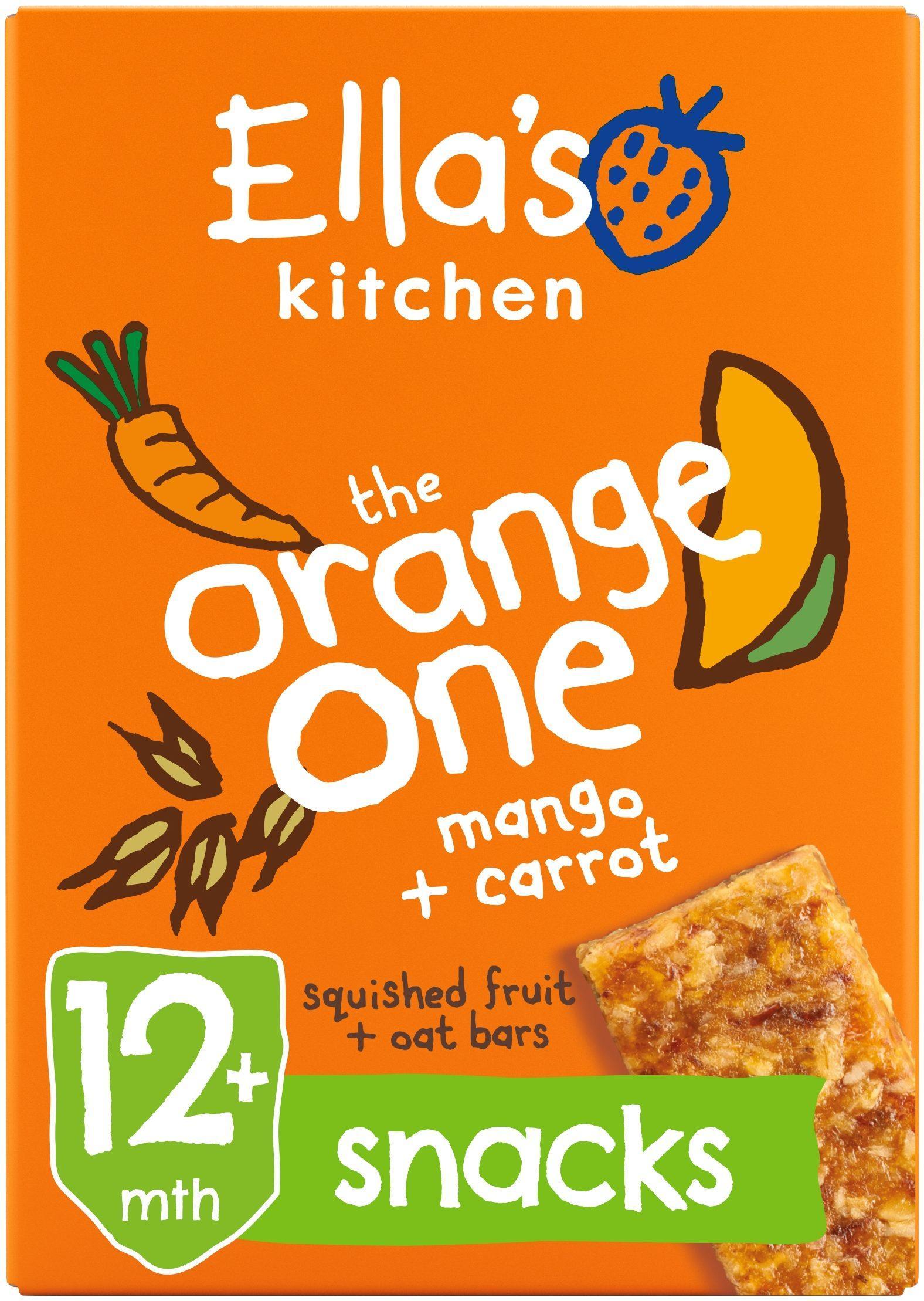 Ellas Kitchen the orange one bar box front of pack