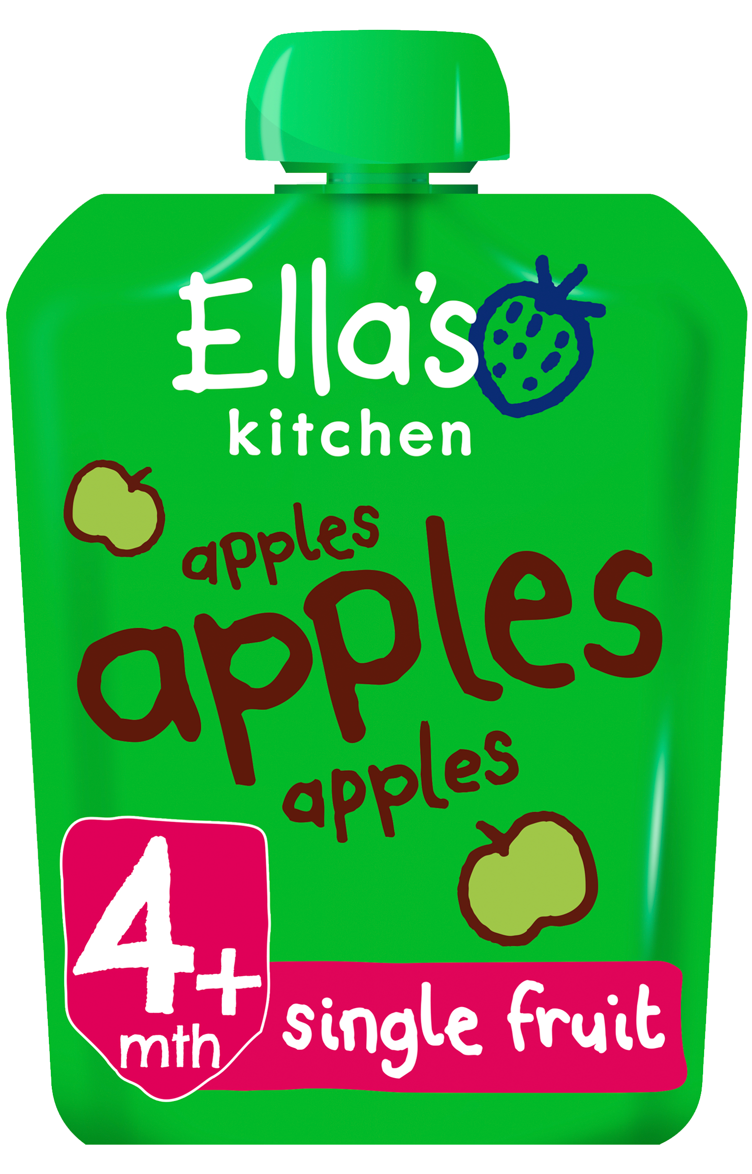 Ellas kitchen apples apples apples pouch front of pack O