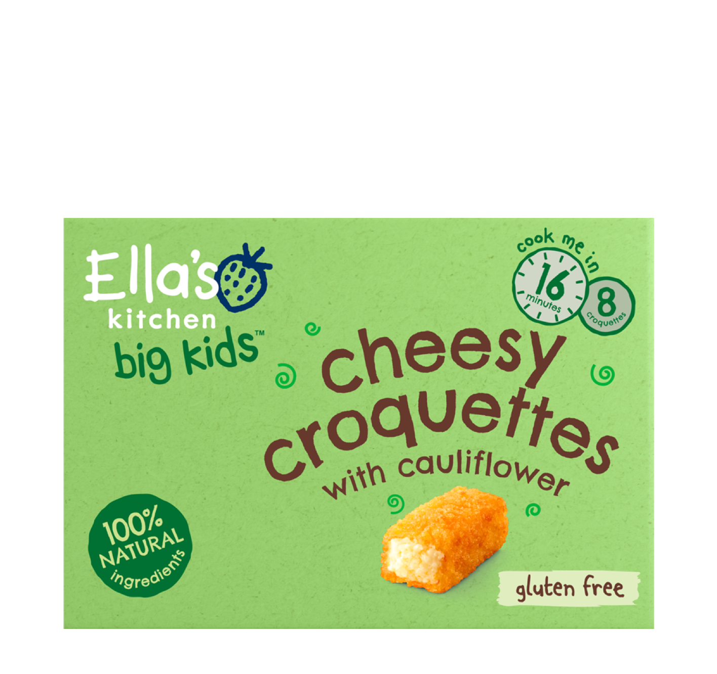 Ellas kitchen cheesy croquettes frozen Front of pack 3