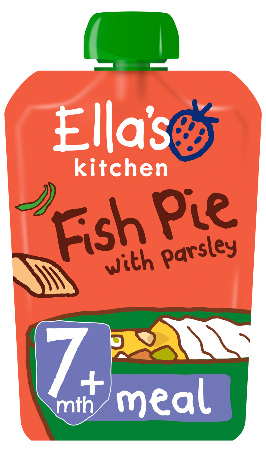 Ellas kitchen fish pie parsley pouch 7 months front of pack O