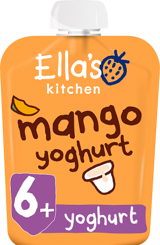 Ellas kitchen mango yoghurt pouch 6 months front of pack O