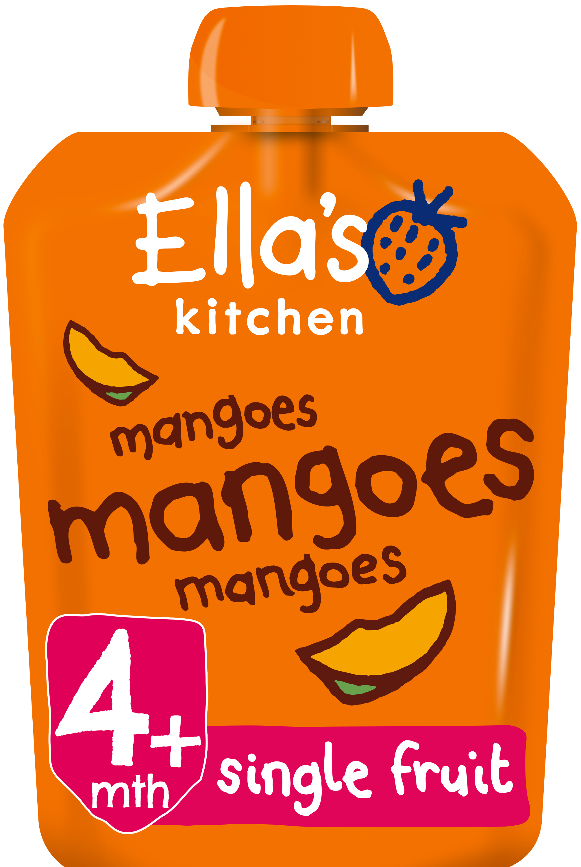 Ellas kitchen mangoes mangoes mangoes pouch front of pack O