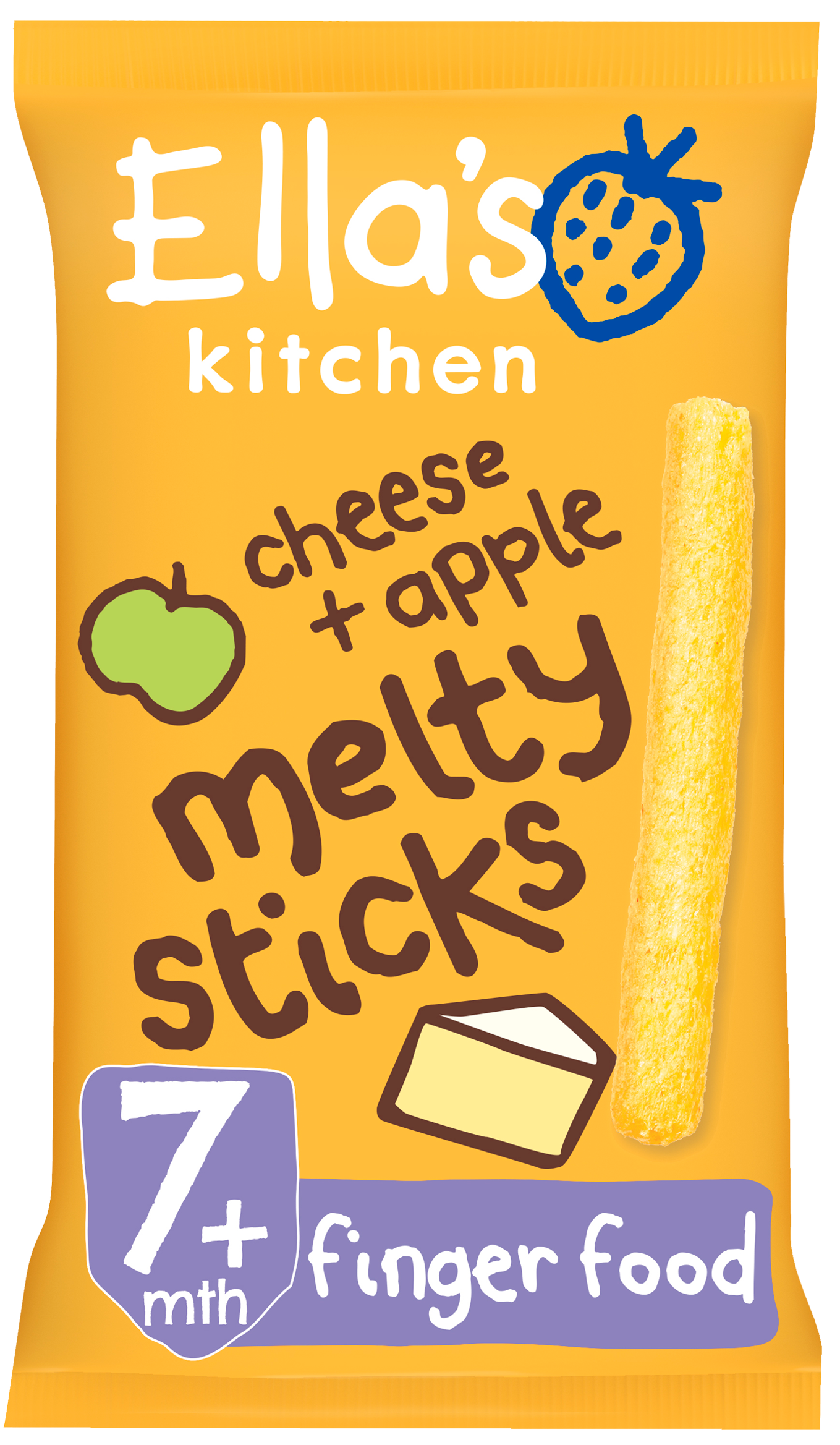 Ellas kitchen melty sticks cheese apple bag front of pack O