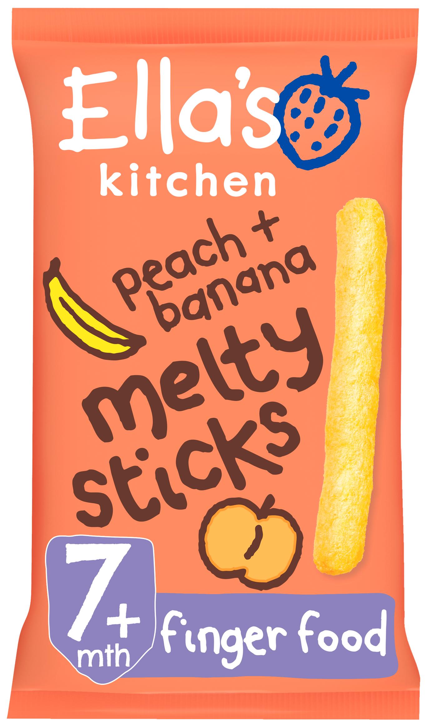Ellas kitchen melty sticks peach banana bag front of pack O