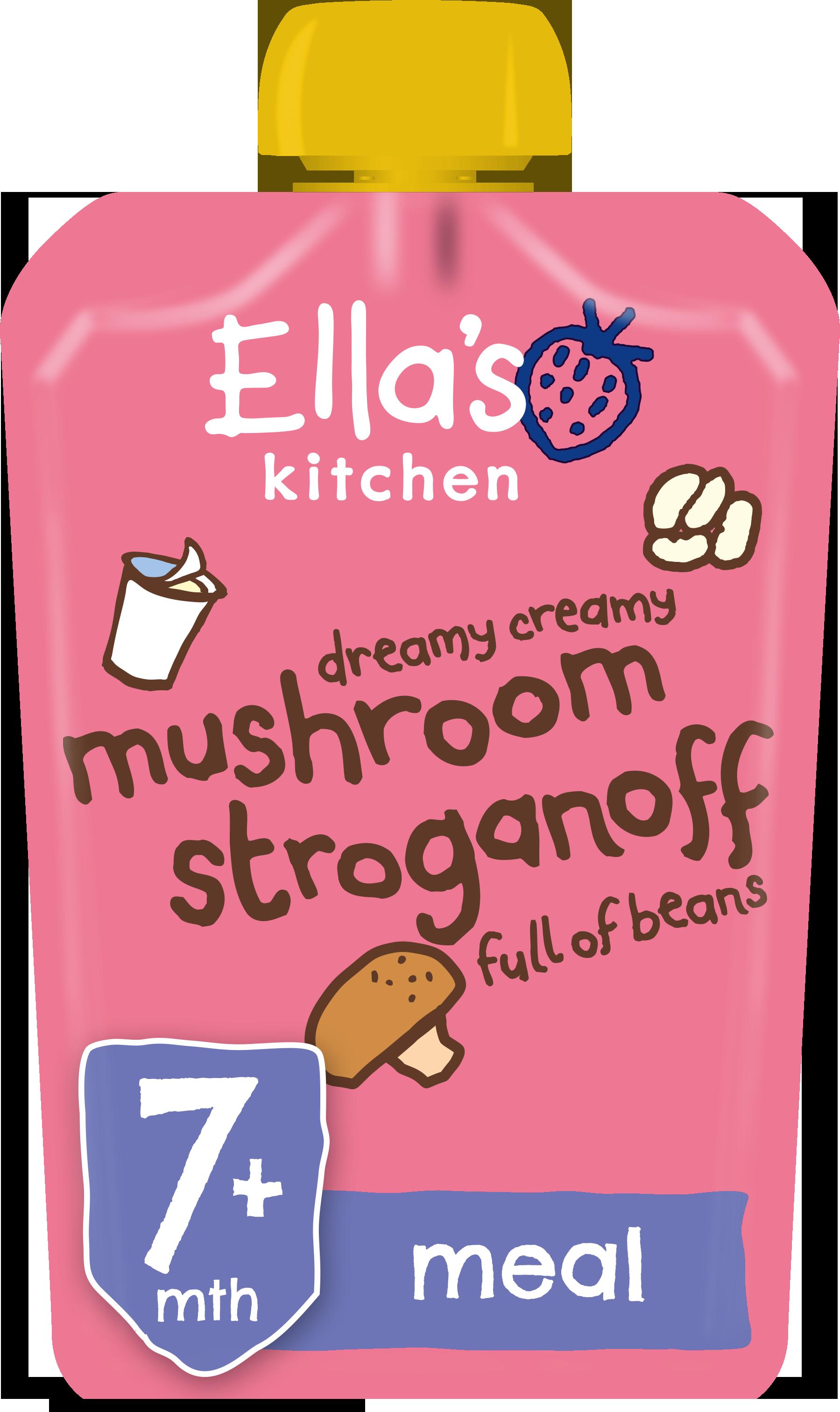 Ellas kitchen mushroom stroganoff 7 months front of pack O