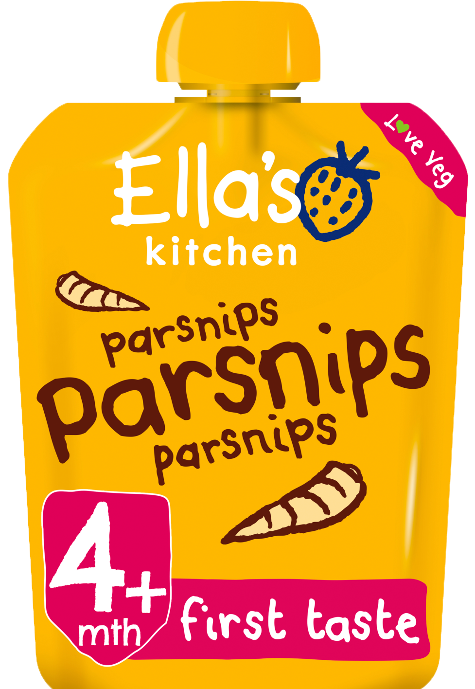 Ellas kitchen parsnips parsnips parsnips pouch front of pack O