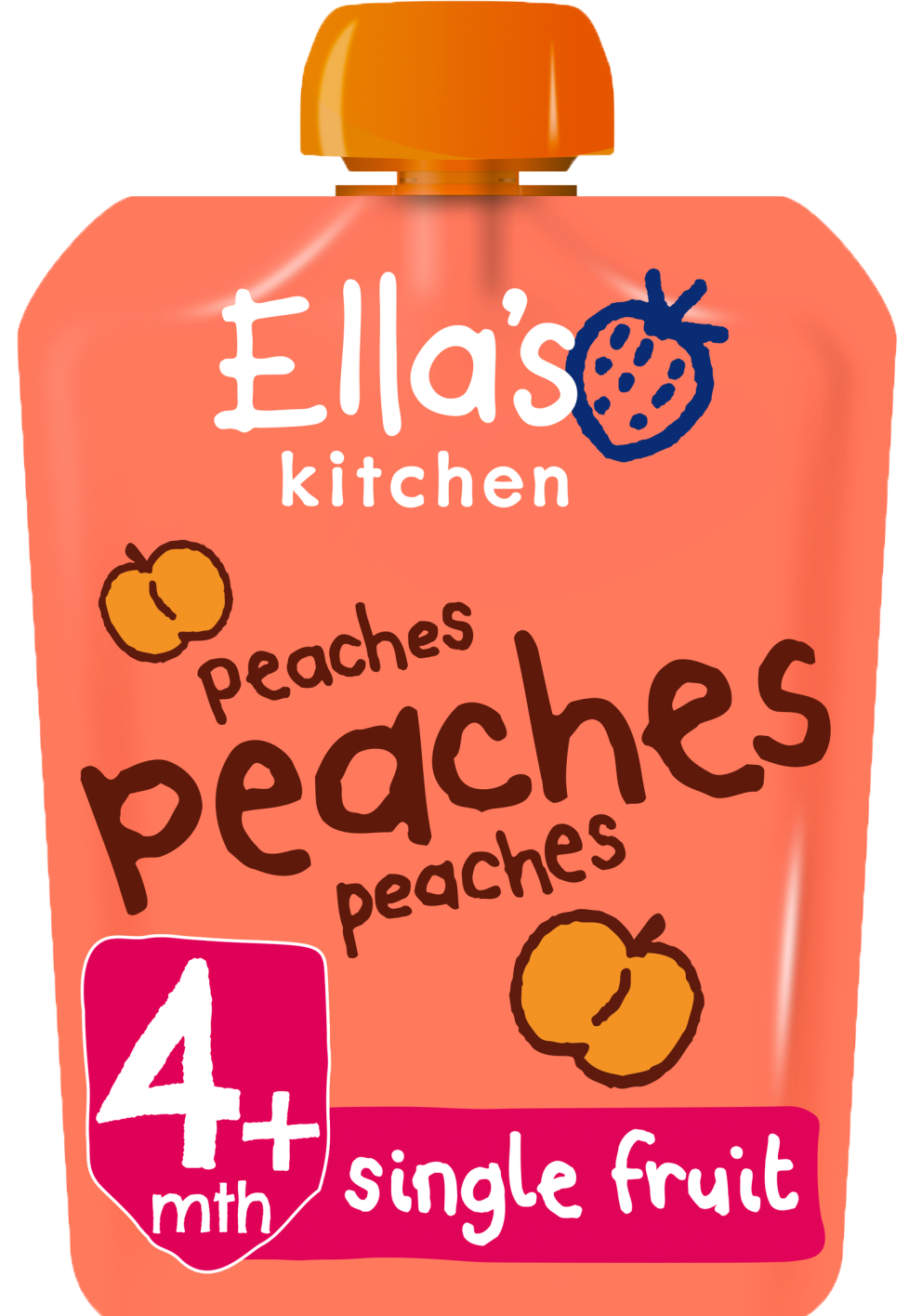 Ellas kitchen peaches peaches peaches pouch front of pack O