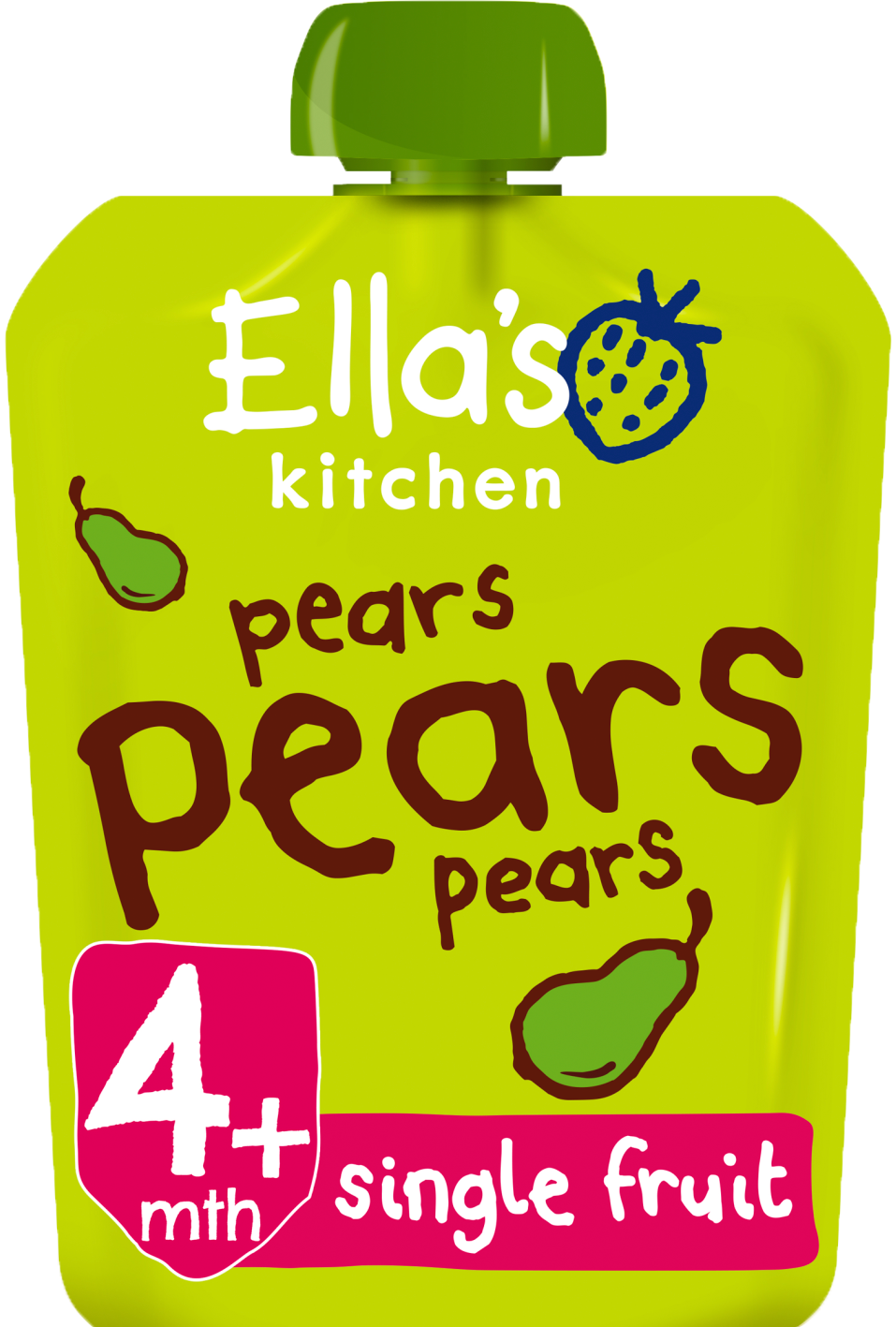 Ellas kitchen pears pears pears pouch front of pack O