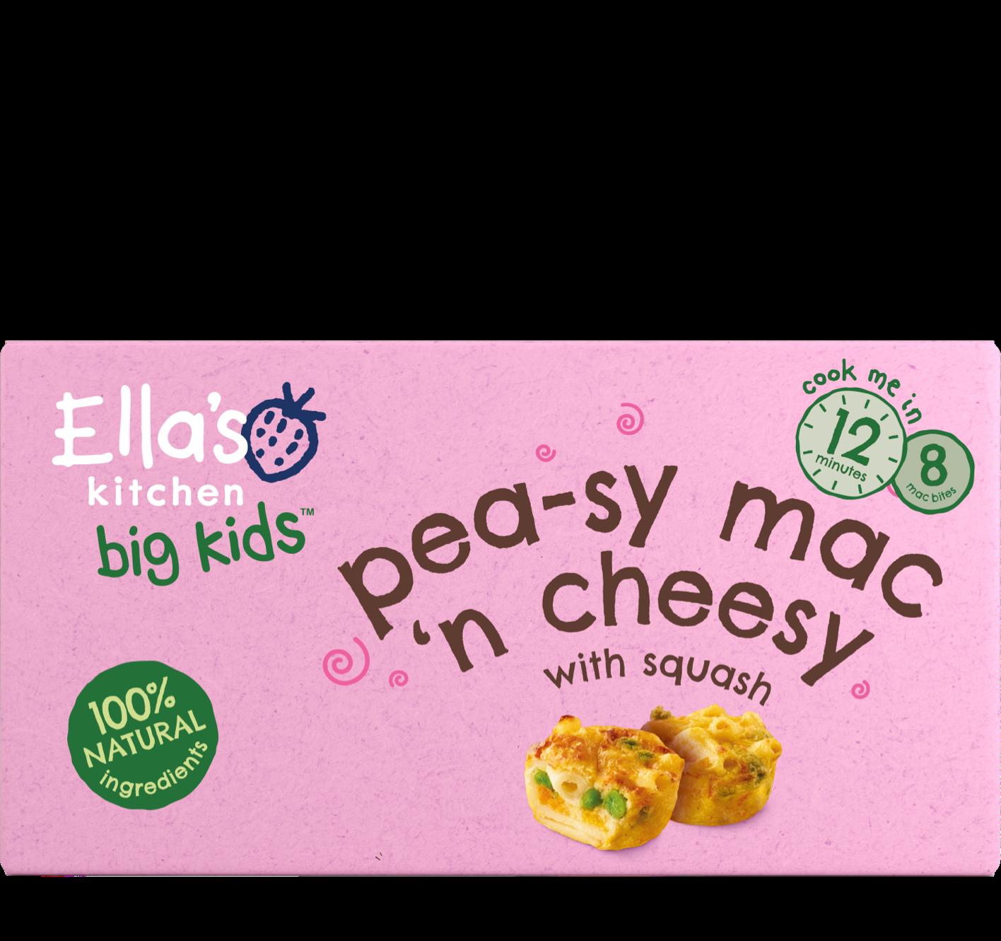 Ellas kitchen peasy mac cheese frozen front of pack 3