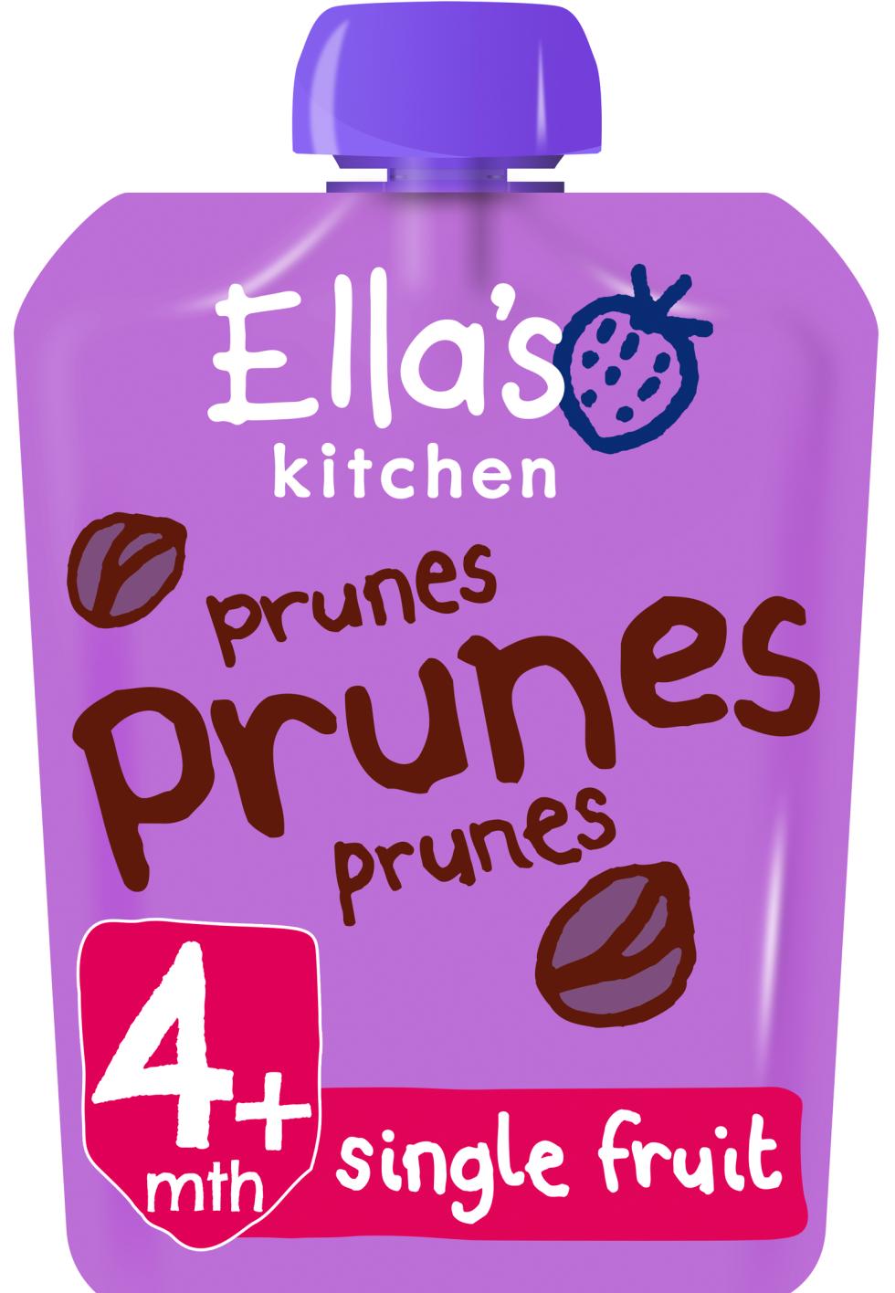 Ellas kitchen prunes prunes prunes pouch front of pack O