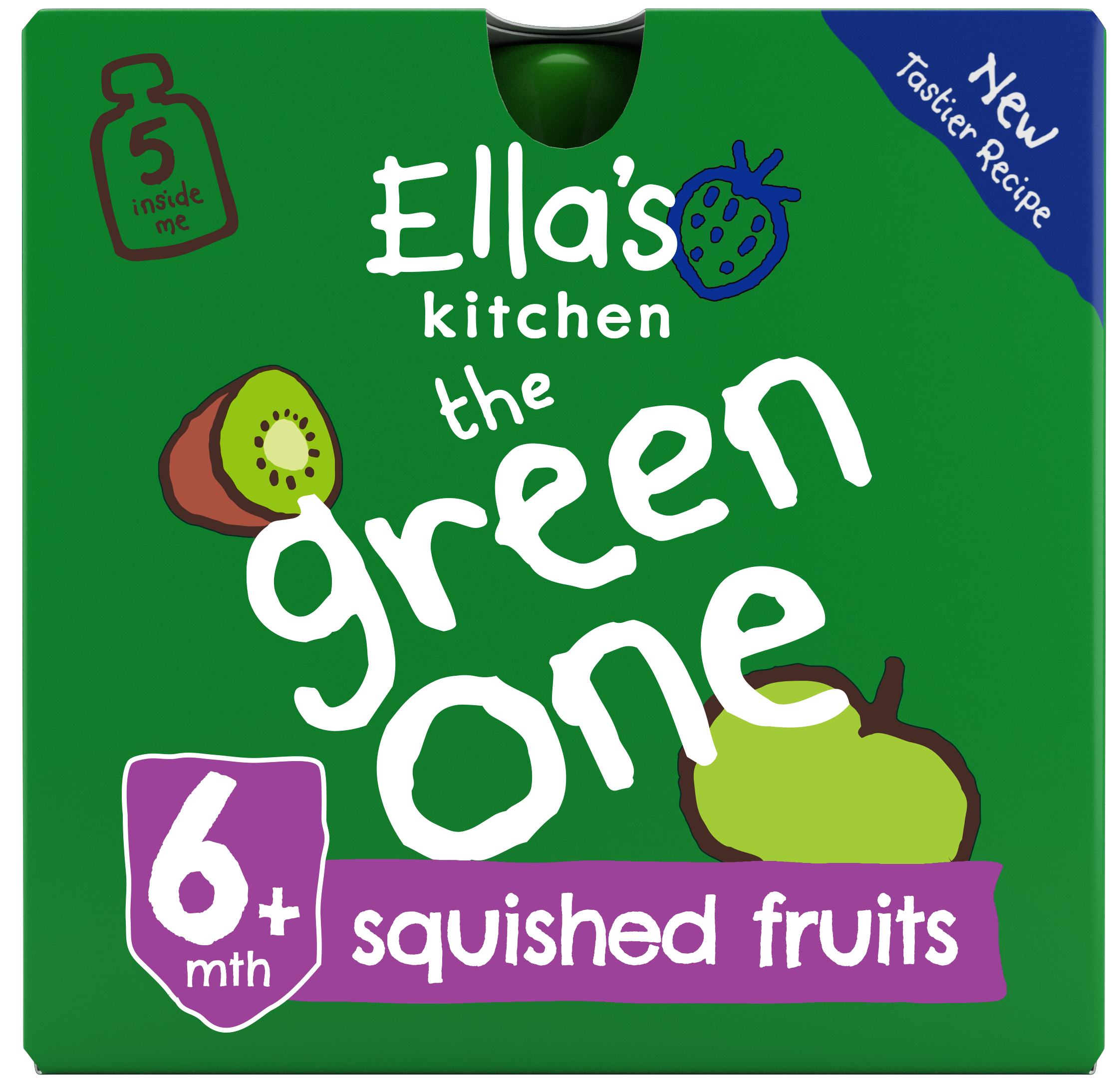 Ellas kitchen the green one smoothie front of pack O