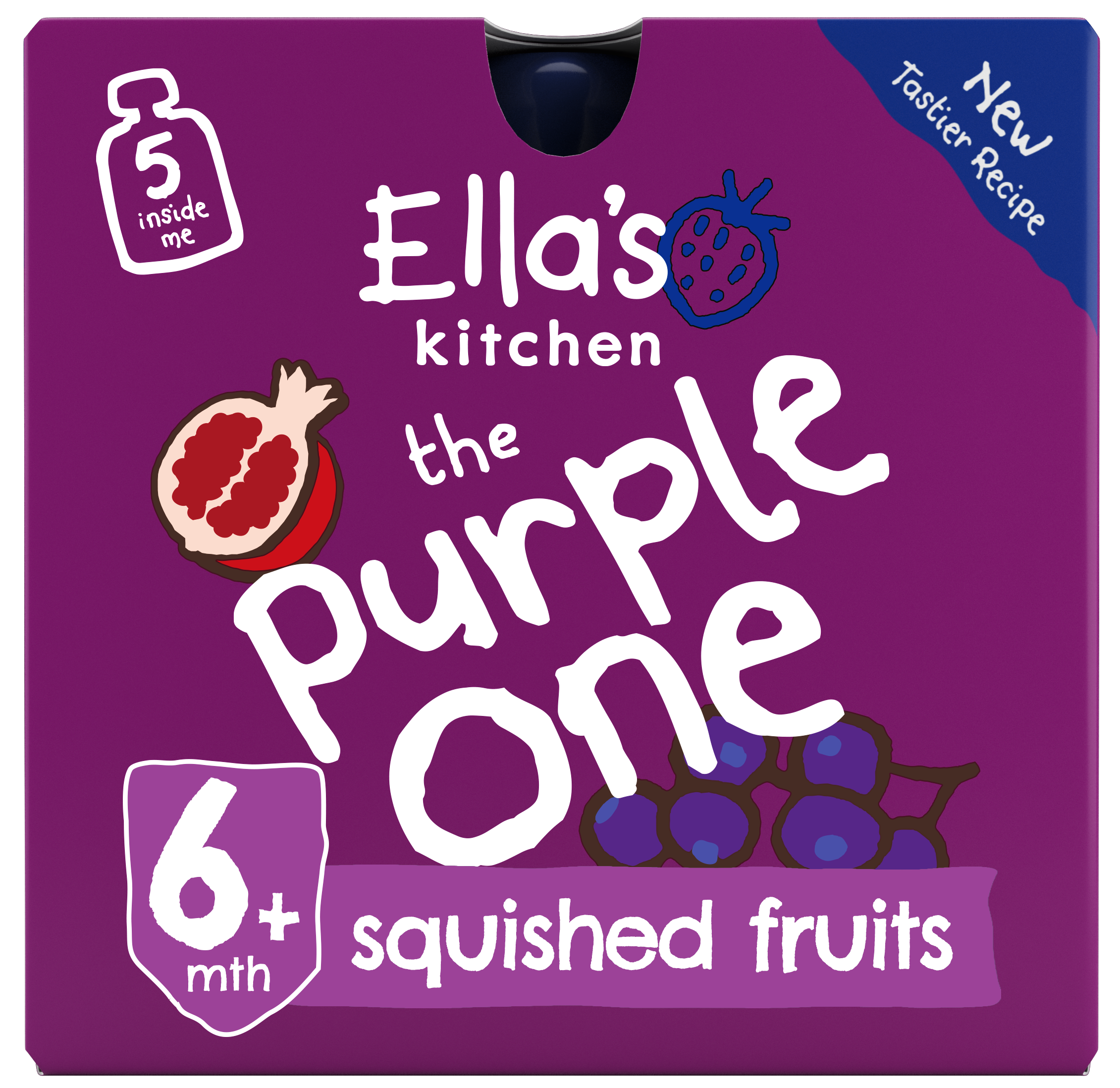 Ellas kitchen the purple one smoothie front of pack O