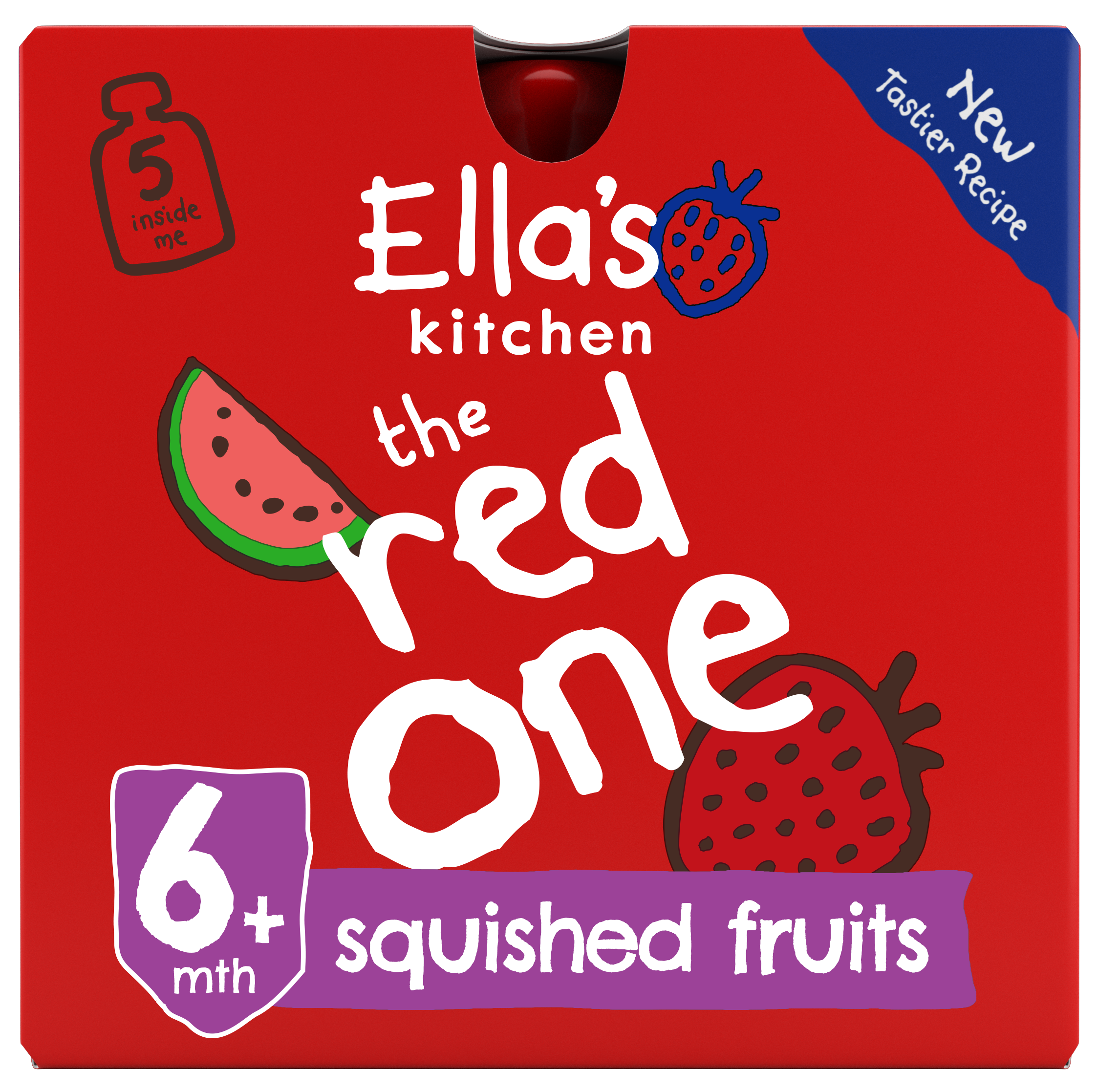 Ellas kitchen the red one smoothie front of pack O