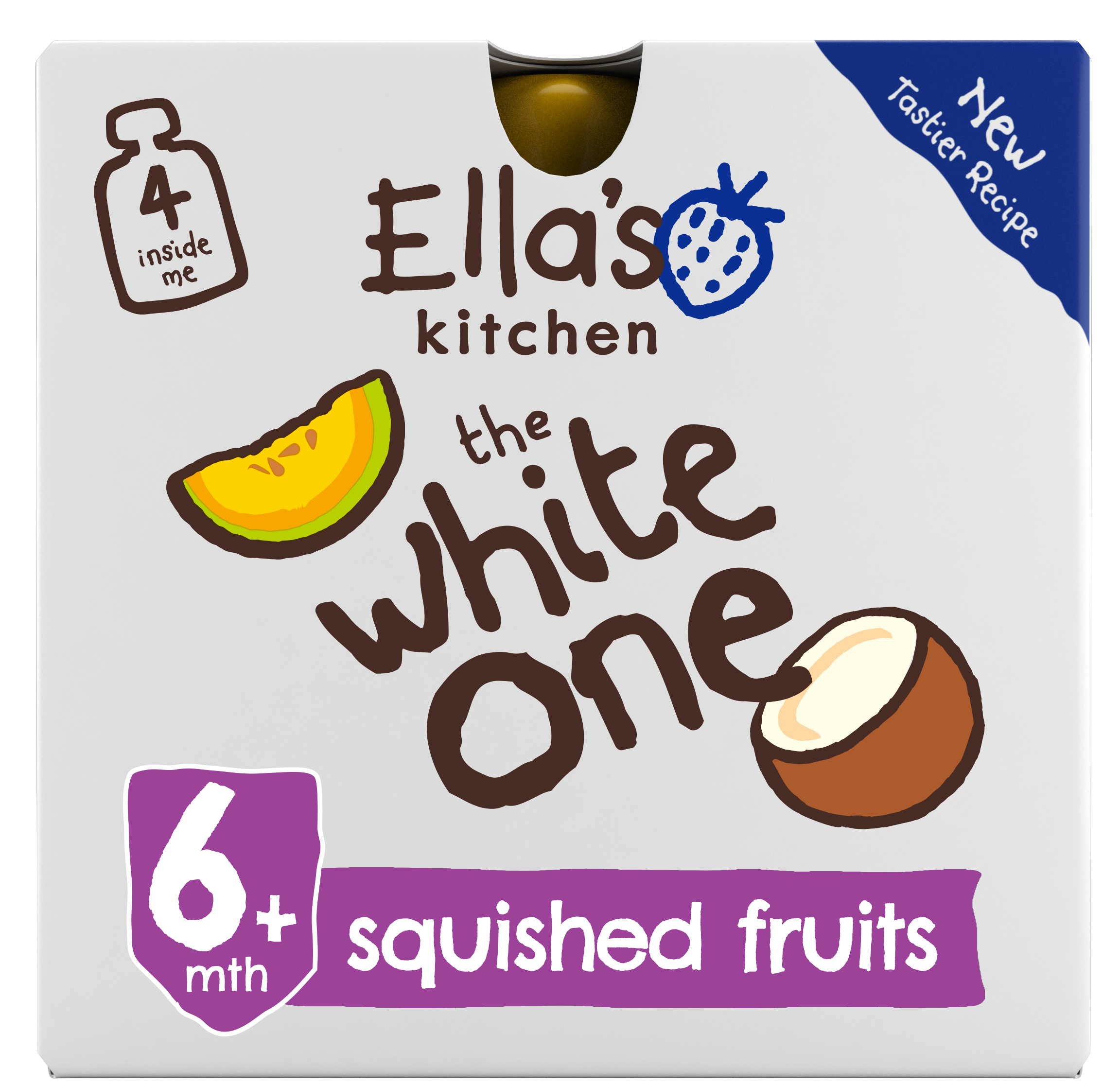 Ellas kitchen the white one smoothie front of pack O