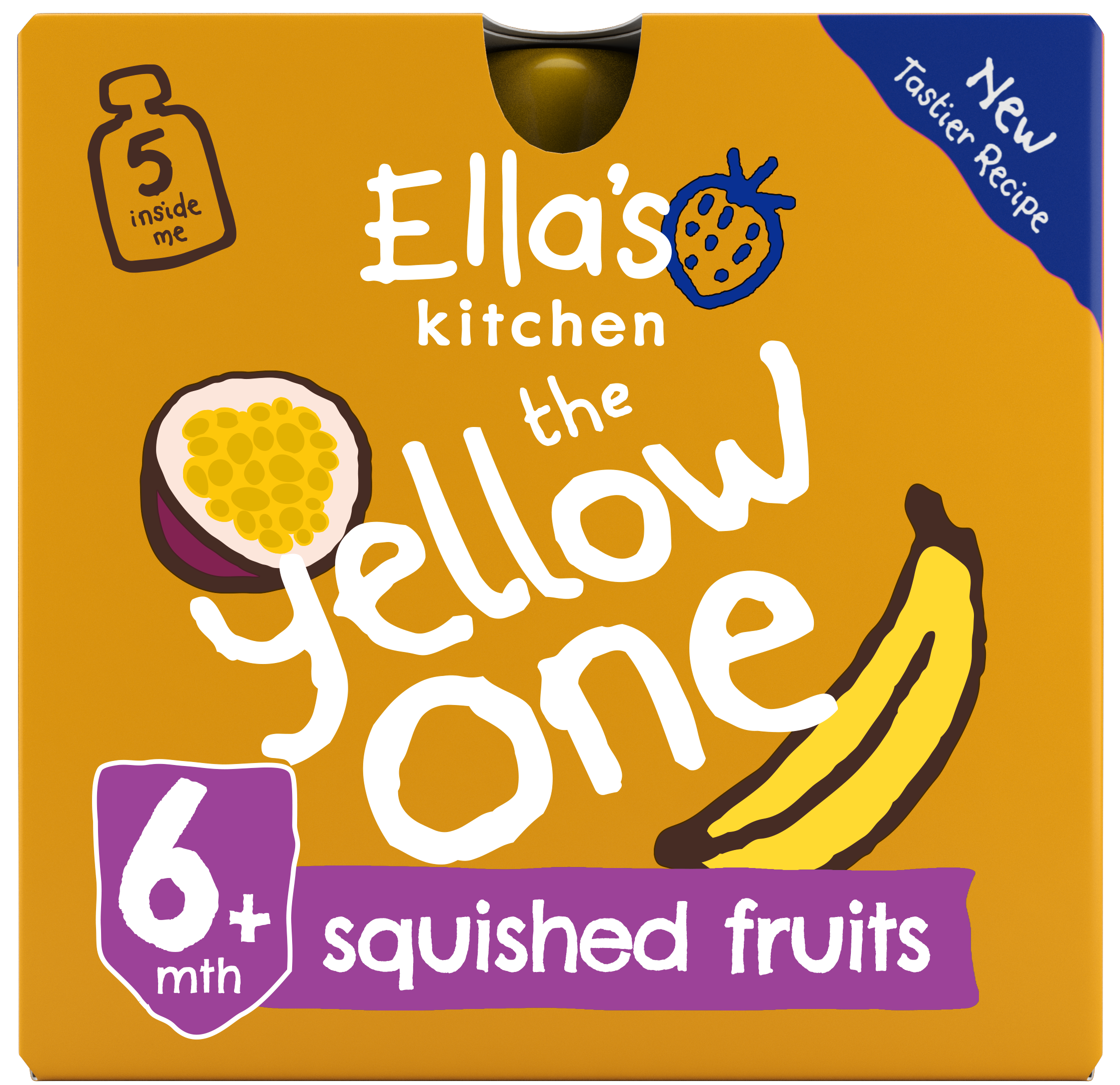 Ellas kitchen the yelloe one smoothie front of pack O