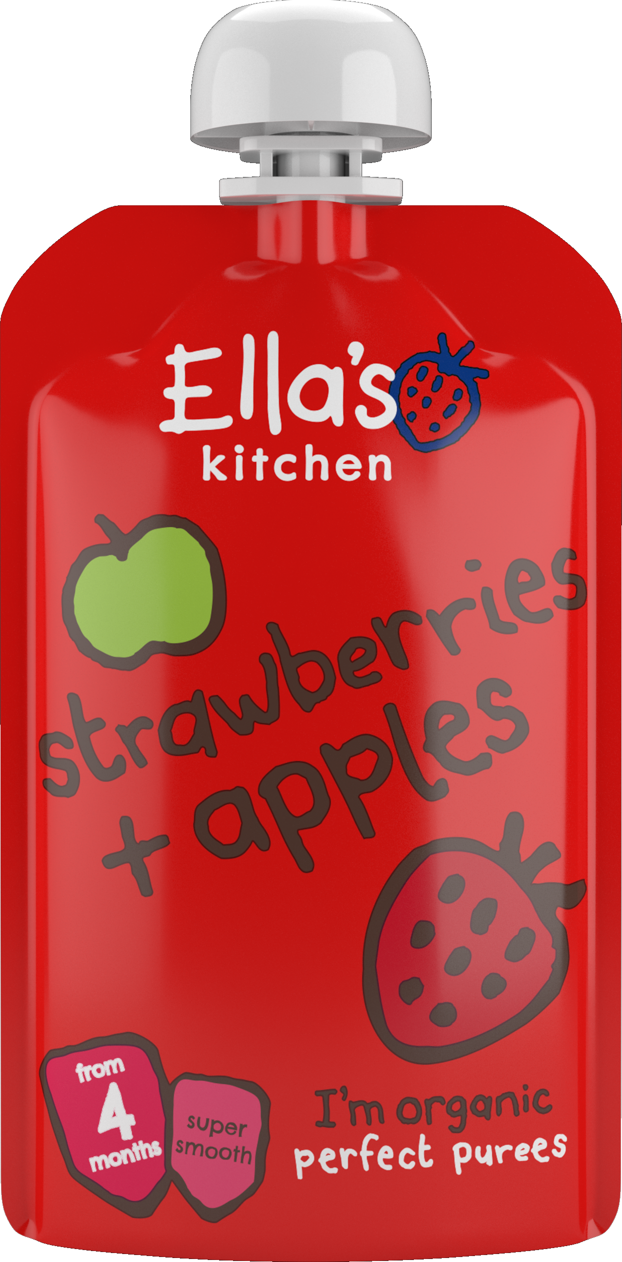 Ellas kitchen strawberries apples puree pouch front of pack 2 jpg